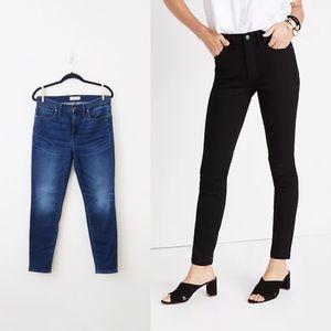 Madewell High Rise Skinny Jeans Creston Wash